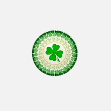Shamrock Circle Mini Button