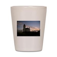 Bandon Lighthouse Sunset Shot Glass