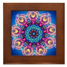 MANDALA LIGHTS 2 Framed Tile