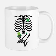 Pregnant Leprechaun Skeleton T Shirt St. Patrick's