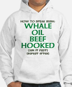 Whale Oil Beef Hooked St. Patricks Day Design Hood