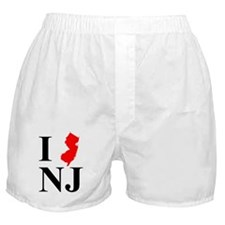 I NJ New Jersey Boxer Shorts