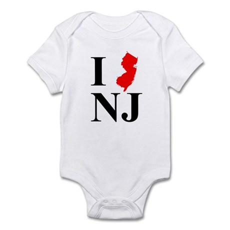 I NJ New Jersey Infant Bodysuit