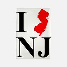 I NJ New Jersey Rectangle Magnet