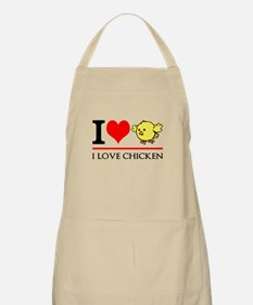I Love Chicken Apron