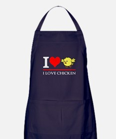 I Love Chicken Apron (dark)