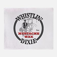 Whistlin' Dixie Mustache Wax Throw Blanket