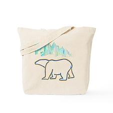 POLAR BEAR AND NORTHERN LIGHTS Tote Bag