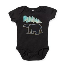 POLAR BEAR AND NORTHERN LIGHTS Baby Bodysuit