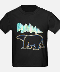 POLAR BEAR AND NORTHERN LIGHTS T-Shirt
