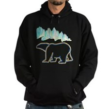 POLAR BEAR AND NORTHERN LIGHTS Hoodie