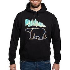 POLAR BEAR AND NORTHERN LIGHTS Hoodie