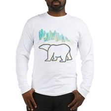 POLAR BEAR AND NORTHERN LIGHTS Long Sleeve T-Shirt