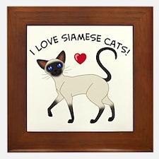 Love Siamese Seal Framed Tile