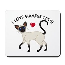 Love Siamese Seal Mousepad