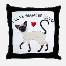 Love Siamese Seal Throw Pillow