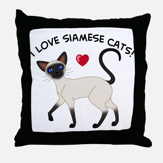Love Siamese Seal Throw Pillow