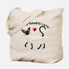 Love Siamese Seal Tote Bag