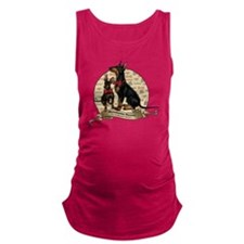 The Gentleman's Terrier by Moll Maternity Tank Top