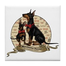 The Gentleman's Terrier by Molly Yang Tile Coaster