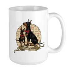 The Gentleman's Terrier by Molly Yang Ceramic Mugs