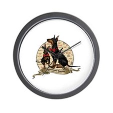 The Gentleman's Terrier by Molly Yang Wall Clock