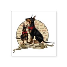 """The Gentleman's Terrier by  Square Sticker 3"""" x 3"""""""