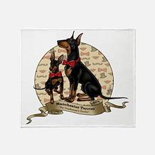 The Gentleman's Terrier by Molly Yan Throw Blanket