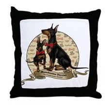 The Gentleman's Terrier by Molly Yang Throw Pillow