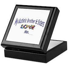 My Autistic Brother & Sisters Love Me Keepsake Box