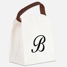 B-Bir black Canvas Lunch Bag