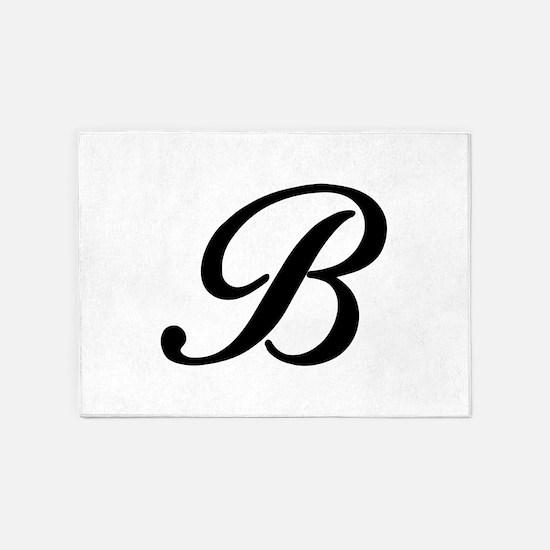 B-Bir black 5'x7'Area Rug