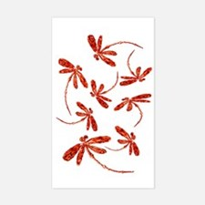 Scarlet Red Dragonflies Decal