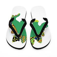 Kente Dino Flip Flops