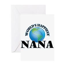 World's Happiest Nana Greeting Cards
