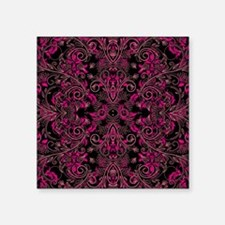 """Pink Damask and Vines Square Sticker 3"""" x 3"""""""