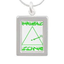 Friend Zone Silver Portrait Necklace