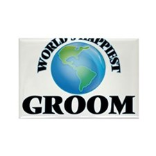 World's Happiest Groom Magnets