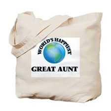 World's Happiest Great Aunt Tote Bag