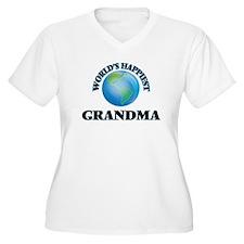 World's Happiest Grandma Plus Size T-Shirt