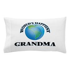 World's Happiest Grandma Pillow Case
