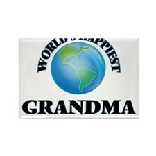 World's Happiest Grandma Magnets