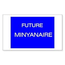 Jewish Future Minyanaire Rectangle Decal
