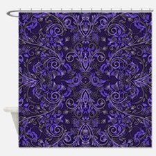Purple Damask and Vines Shower Curtain