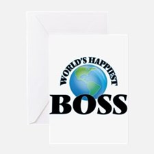 World's Happiest Boss Greeting Cards