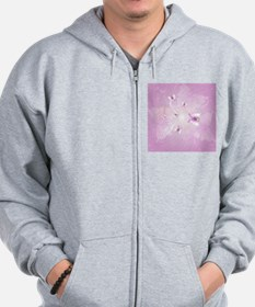 Awesome butterflys on soft purple background Zip Hoodie
