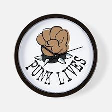 Punk Lives Wall Clock