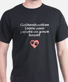 Goldendoodles Leave Paw Prints On Your Heart T-Shi