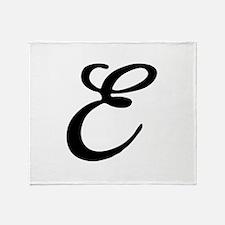 E-Bir black Throw Blanket