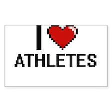 I love Athletes Decal
